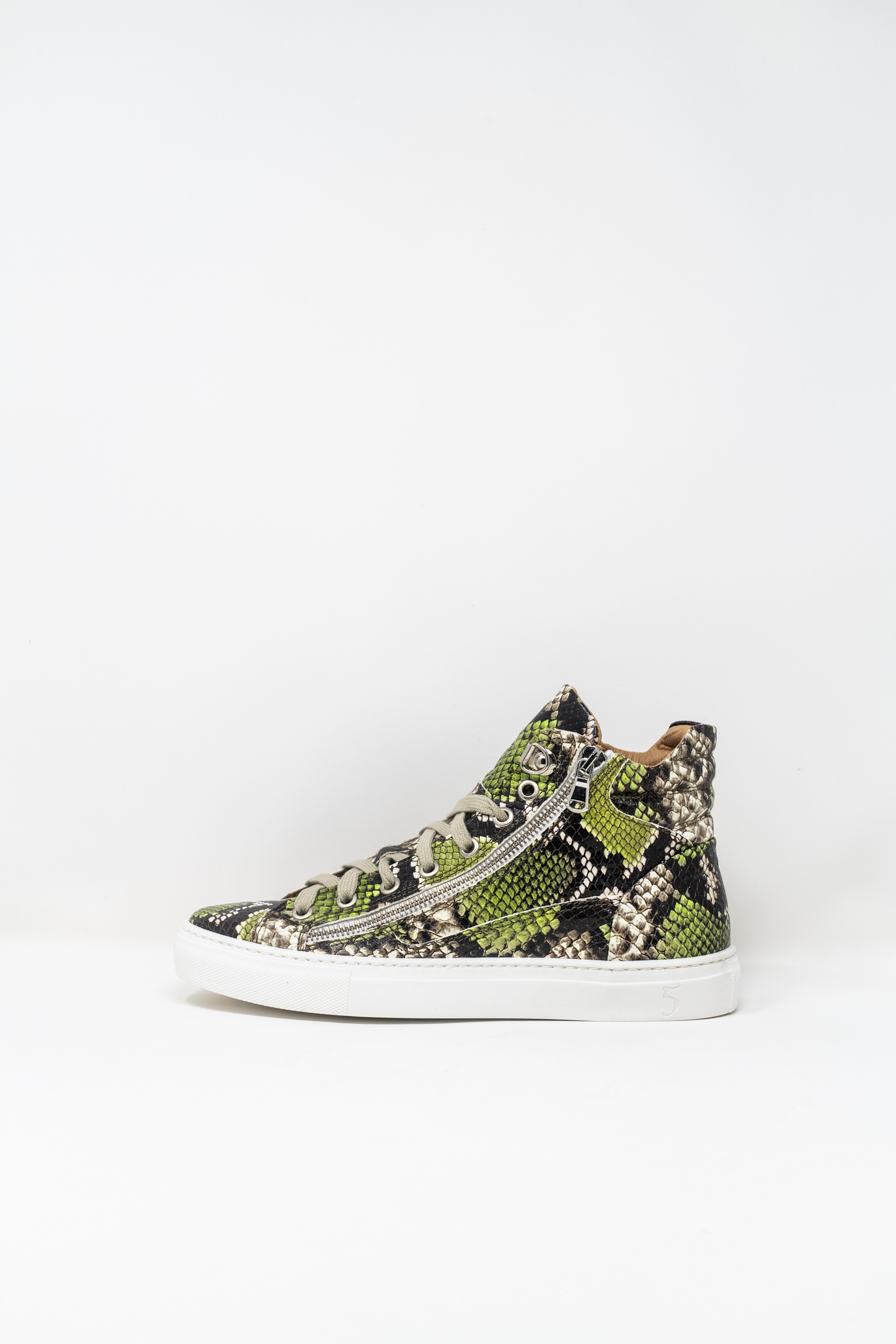 Sneakers Alte woman 5  FIVE  HANDMADE WD91, Pitone Verde