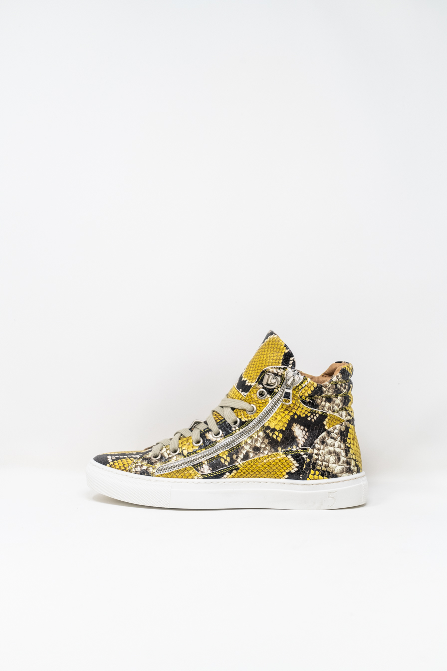 Sneakers Alte woman 5  FIVE  HANDMADE WD91, Pitone Limone