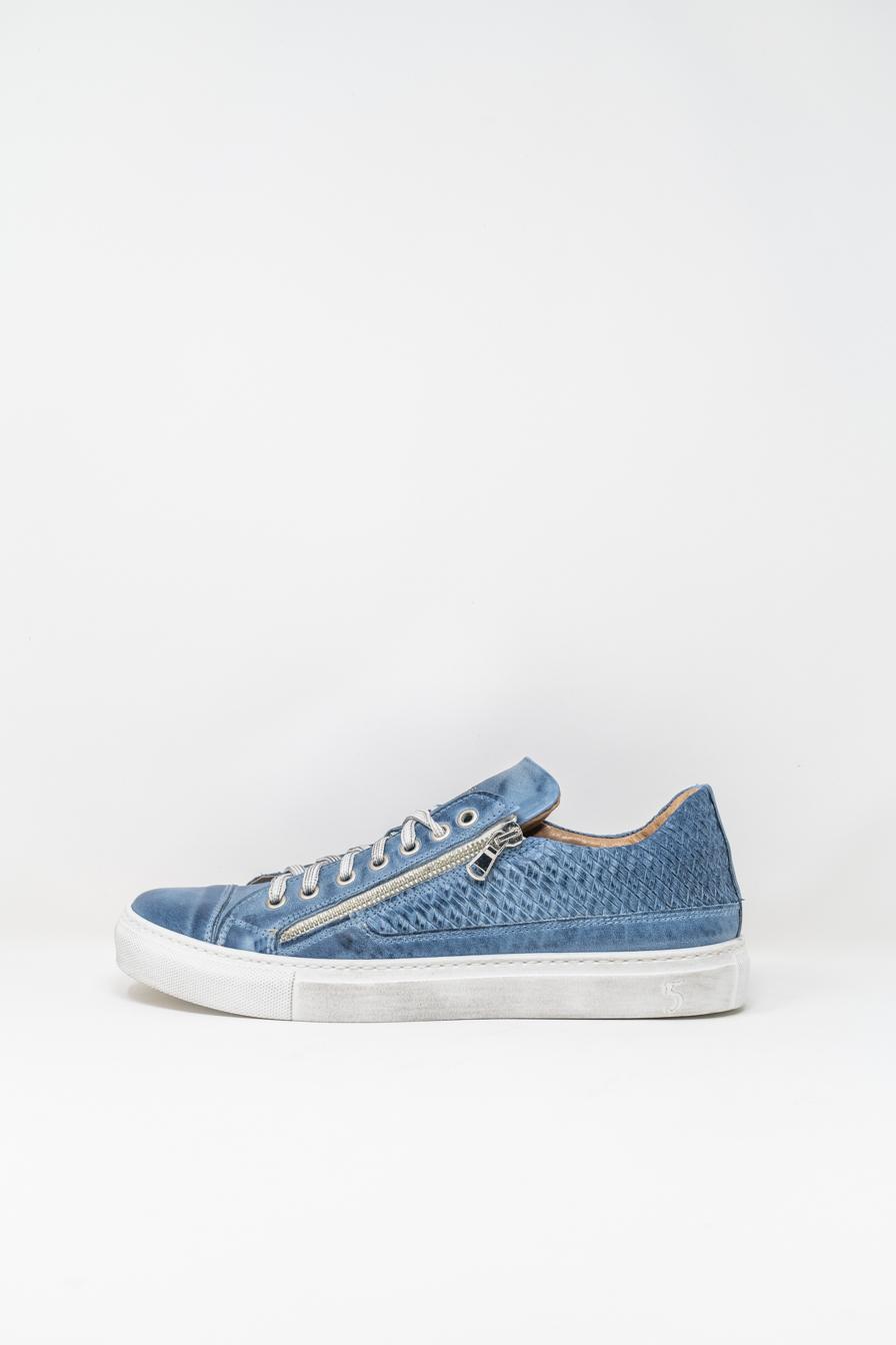 Sneakers man 5  FIVE  HANDMADE WU90, WASHED BLUE