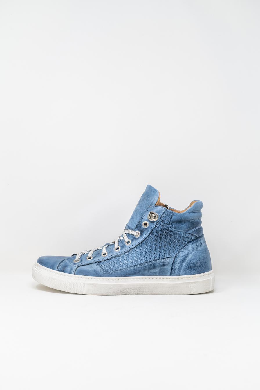 Sneakers Alte man 5  FIVE  HANDMADE WU911, LIGHT BLUE