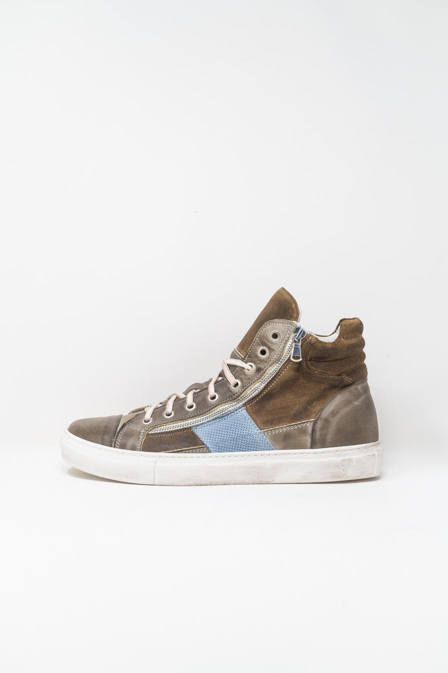 Sneakers Alte man PRICE? WX13, BROWN/LIGHT BLUE