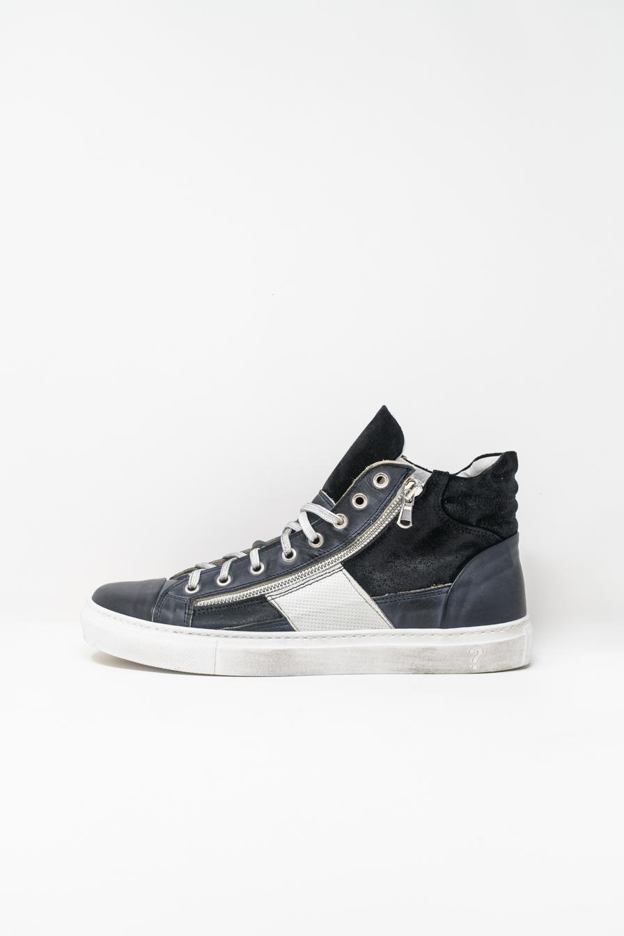 Sneakers Alte man PRICE? WX13, Navy/Bianco