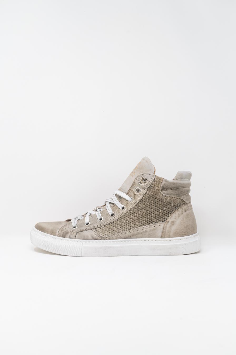 Sneakers Alte man 5  FIVE  HANDMADE WU911, PEARL GREY