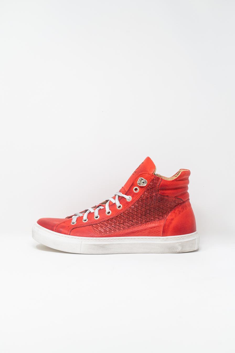Sneakers Alte man 5  FIVE  HANDMADE WU911, RED