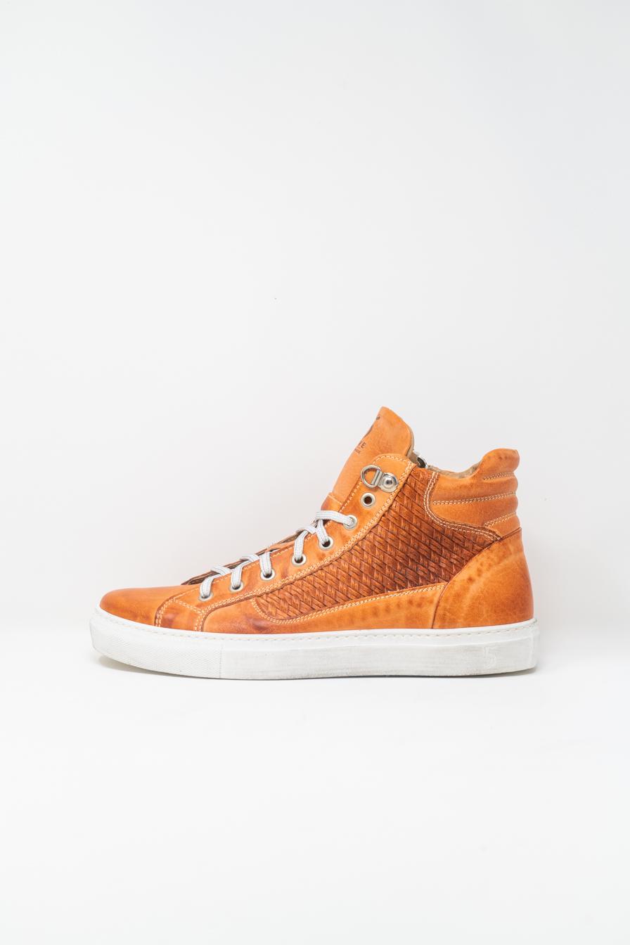 Sneakers Alte man 5  FIVE  HANDMADE WU911, ORANGE