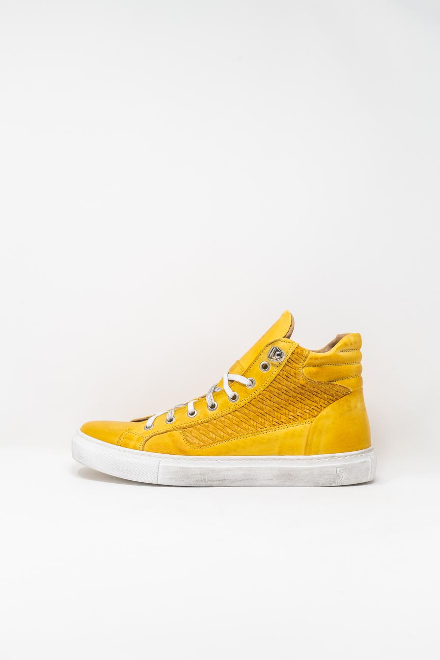 Sneakers Alte man 5  FIVE  HANDMADE WU911, YELLOW