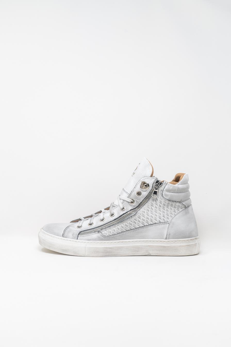 Sneakers Alte man 5  FIVE  HANDMADE WU911, WHITE