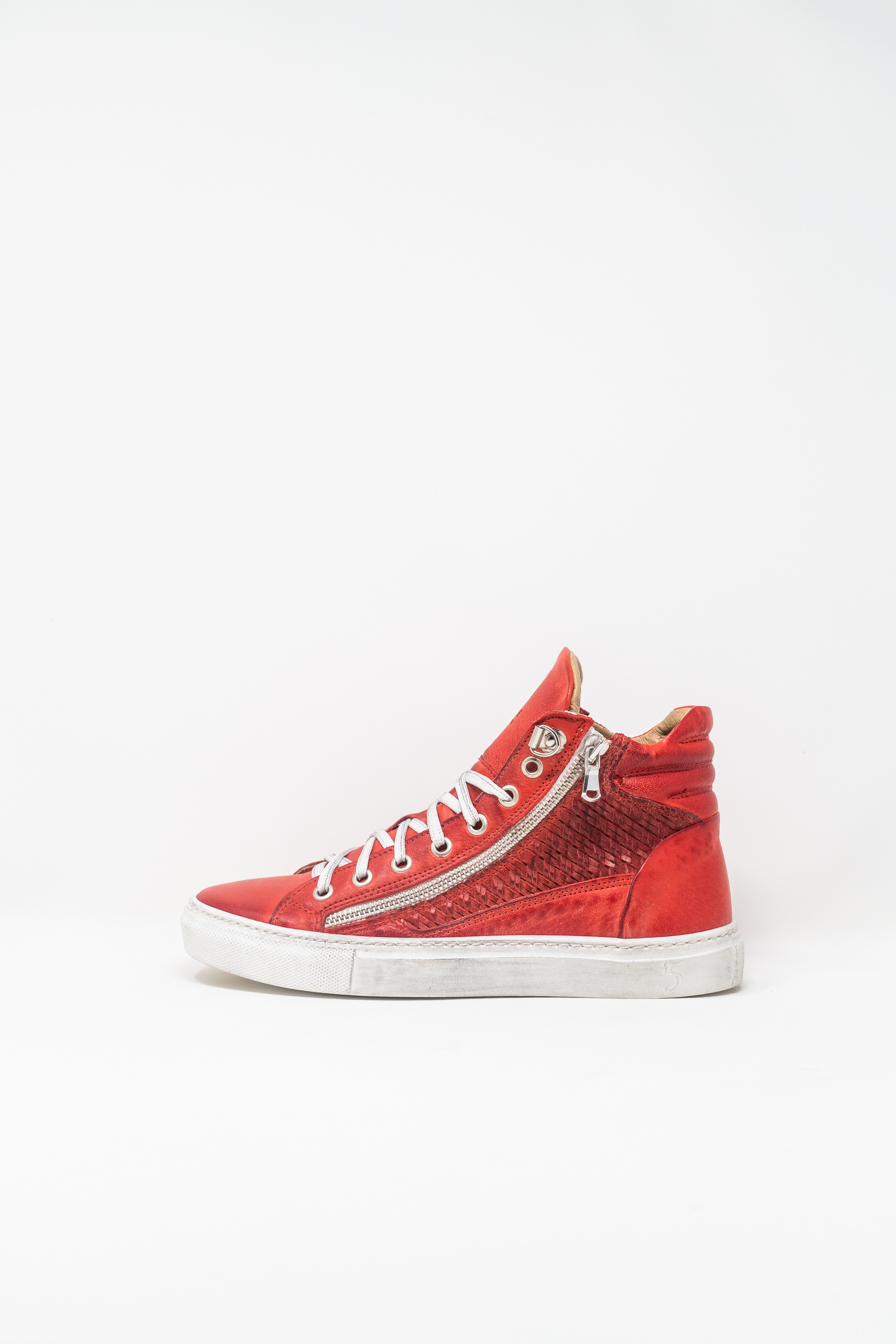 Sneakers Alte woman 5  FIVE  HANDMADE WD91, RED