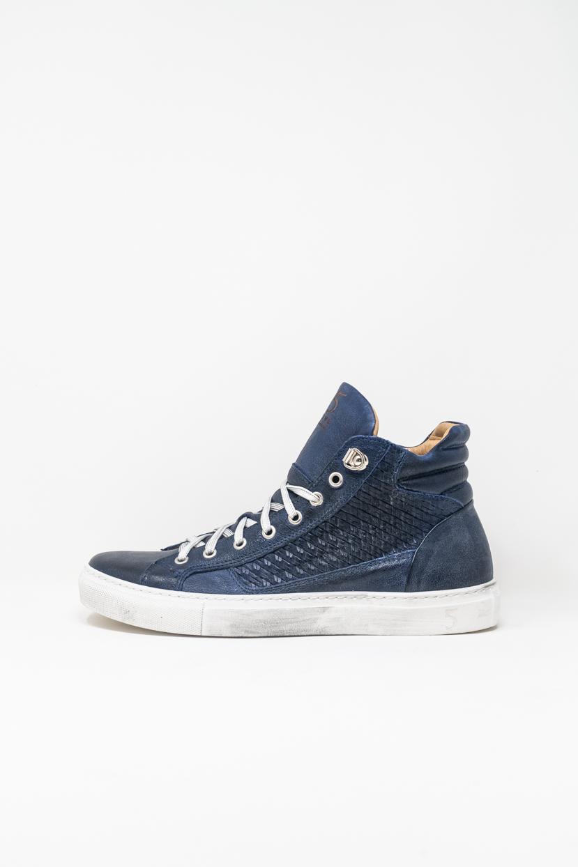 Sneakers Alte man 5  FIVE  HANDMADE WU911, BLU OCEANO
