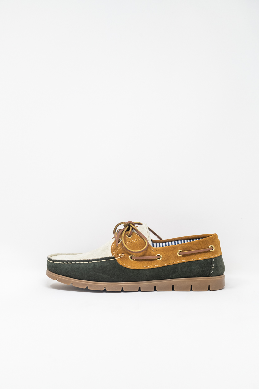 Laced Shoes man PRICE? 1900 TENDER, VERDE/BIANCO/CUOIO