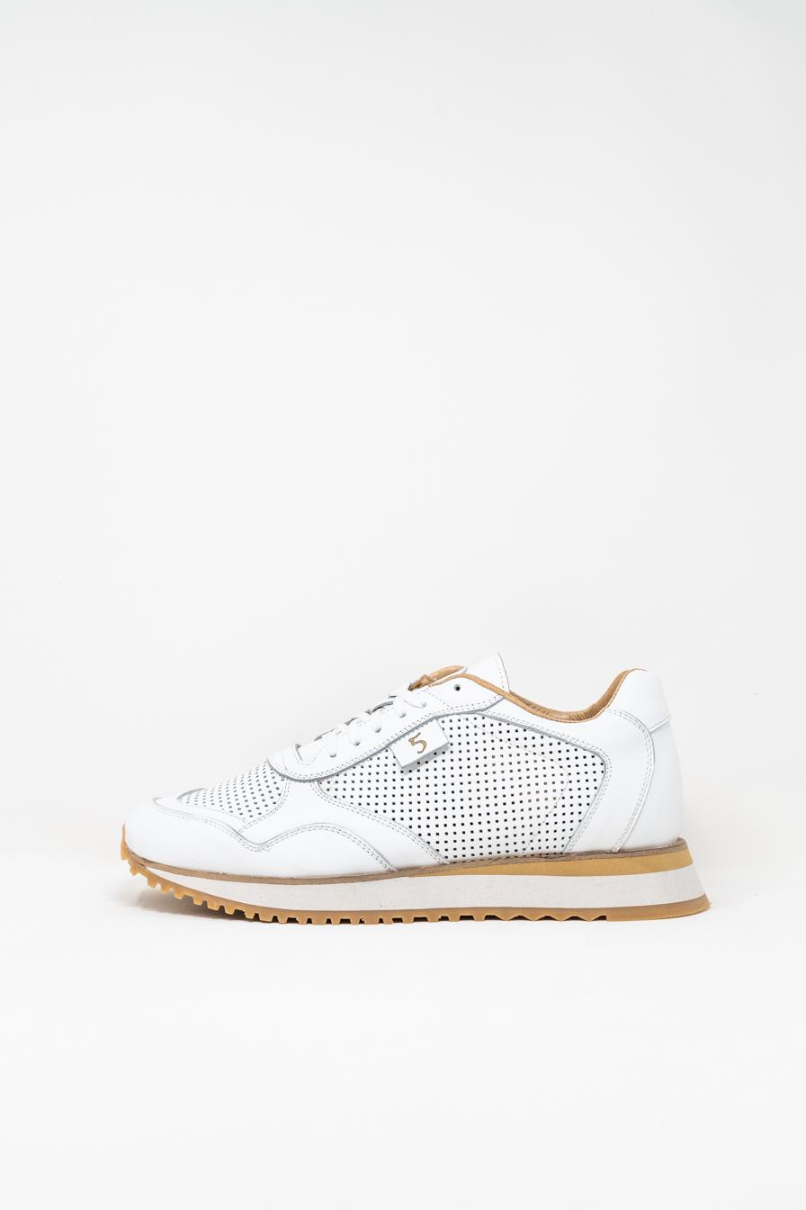 Sneakers man 5  FIVE  HANDMADE FIL, WHITE